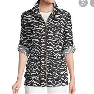 Nwt Calvin Klein 2X zebra jacket 100% linen